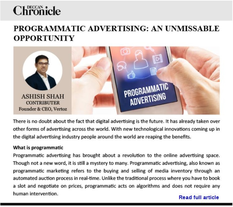 Programmatic Advertising Opportunity